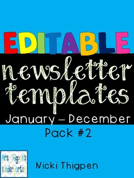 Editable Newsletter Templates--Pack #2