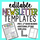 Editable Newsletter Templates (Rainbow)