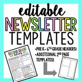 Editable Newsletter Templates (Rainbow)