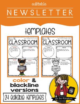 Editable Newsletter Templates {Set 2}