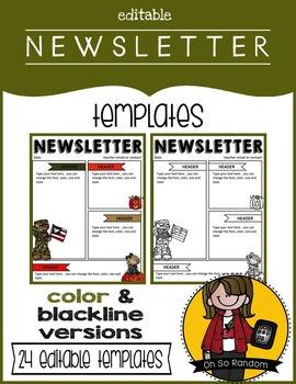 Editable Newsletter Templates {Set 3}