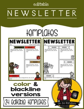 Editable Newsletter Templates {Set 3}
