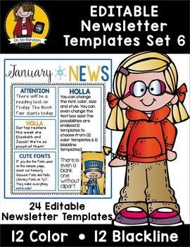 Editable Newsletter Templates {Set 6}