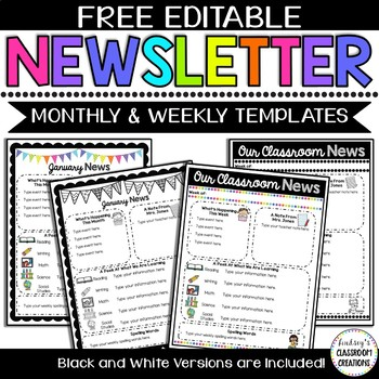 Editable Newsletter Templates - Simple Neon Brights Editio