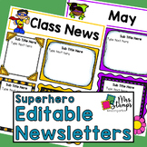 Editable Newsletter Templates | Superhero Newsletter Templates