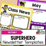 Editable Newsletter Templates:  Superhero Newsletter Templates