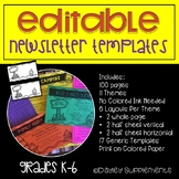 Editable Newsletter Templates - Themed with multiple layouts
