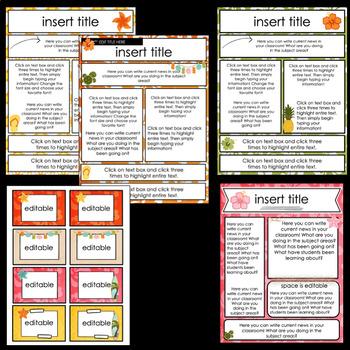 Editable Newsletter Templates ~ Tropical Theme