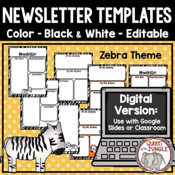 Zebra Newsletter Templates Editable