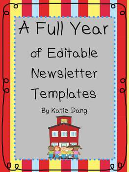 Editable newsletter templates for the entire year by dang for Free editable newsletter templates for teachers