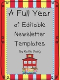 Editable Newsletter Templates for the Entire Year!