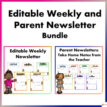 Editable Newsletter: Weekly and Parent Bundle