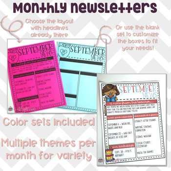 Editable Newsletter and Calendar Templates