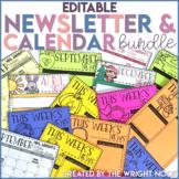 Newsletter and Calendar Templates Editable BUNDLE