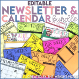Newsletter and Calendar Templates Editable BUNDLE