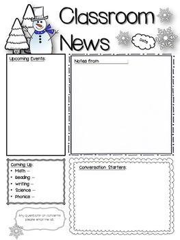 Editable Newsletters for Each Season