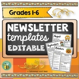 Newsletter Template EDITABLE Distance Learning