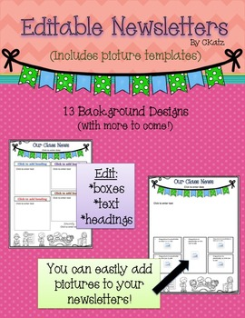 Editable Newsletter (with picture templates)