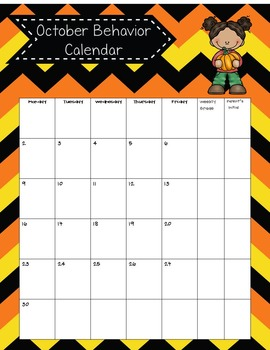 Editable Newsletter/Behavior Calendars Bundle