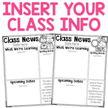 Classroom Newsletters {Completely Editable}