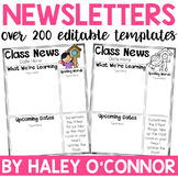 Editable Newsletter Template {Over 110 Designs}