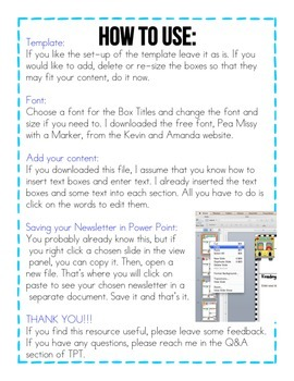 Editable Newsletters- All About Me Theme