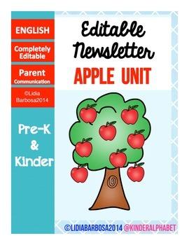 Editable Newsletters- Apples Theme