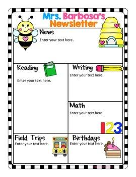 Editable Newsletters- Bee Theme