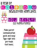 Editable Newsletters: Bold Brights