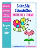 Editable Newsletters- Butterfly Theme