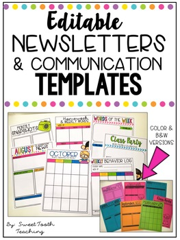 Editable Newsletters & Calendar Templates