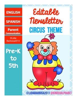Editable Newsletters- Circus Theme