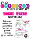 Editable Newsletters: Doodle Frames