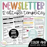 Editable Newsletters Editable Infographic Newsletter Templates