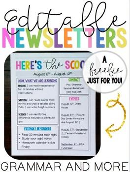 Editable Newsletters ::FREEBIE::