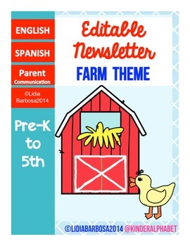 Editable Newsletters- Farm Theme