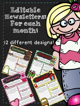 Newsletters For Each Month! **Editable**