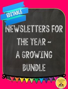 Newsletters Editable - Growing Bundle