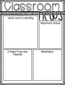 Editable Newsletter Templates~ Kidlette Themes