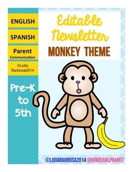Editable Newsletters- Monkey Theme