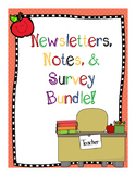Editable Newsletters, Notes, and Surveys for Parents in En