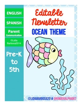 Editable Newsletters- Ocean Theme