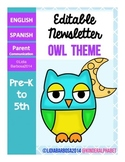 Editable Newsletters- Owl Theme
