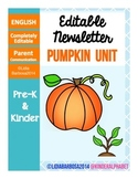 Editable Newsletters- Pumpkin Theme