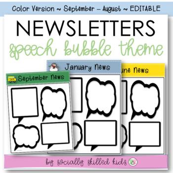 Newsletters: Speech Bubble Theme