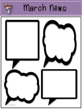 Newsletters: Speech Bubble Themed {September - August // Color // Editable}