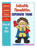 Editable Newsletters- Superhero Theme