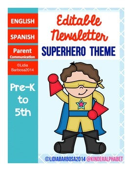 Editable Newsletters- Superhero Theme