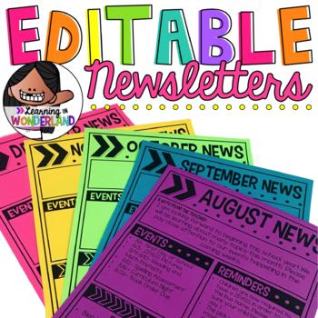 Editable Newsletters {Upper Grade Edition}