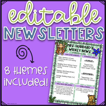 Editable Newsletters- Various Themes